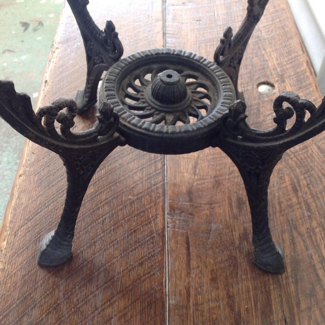 Redwood Burl Coffee Table on Cast Iron Stand For Sale In San Francisco - Image 6 of 8