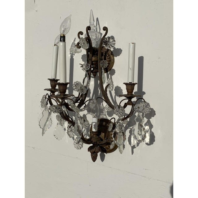 Metal Vintage French Louis XVI Style Sconces - a Pair For Sale - Image 7 of 10