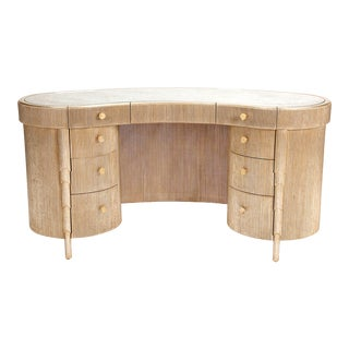 Designer Nancy Corzine Curtain Vanity Credenza Console For Sale