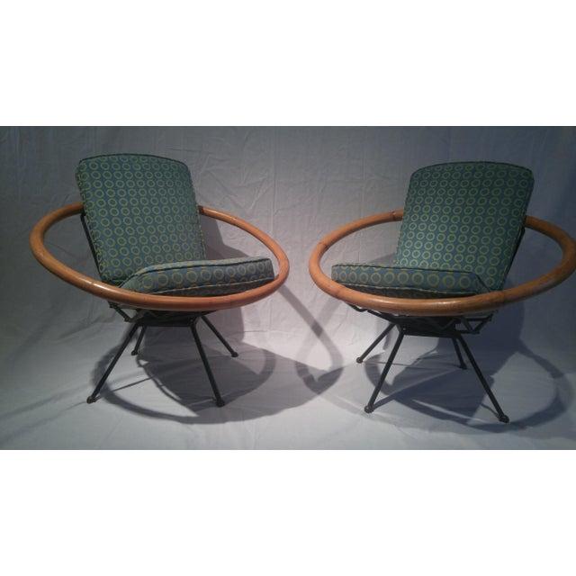 beautiful swivel club chairs | Vintage Ritts Tropitan Swivel Lounge Chairs - Pair | Chairish