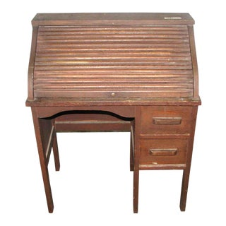 Small Vintage Roll Top Desk