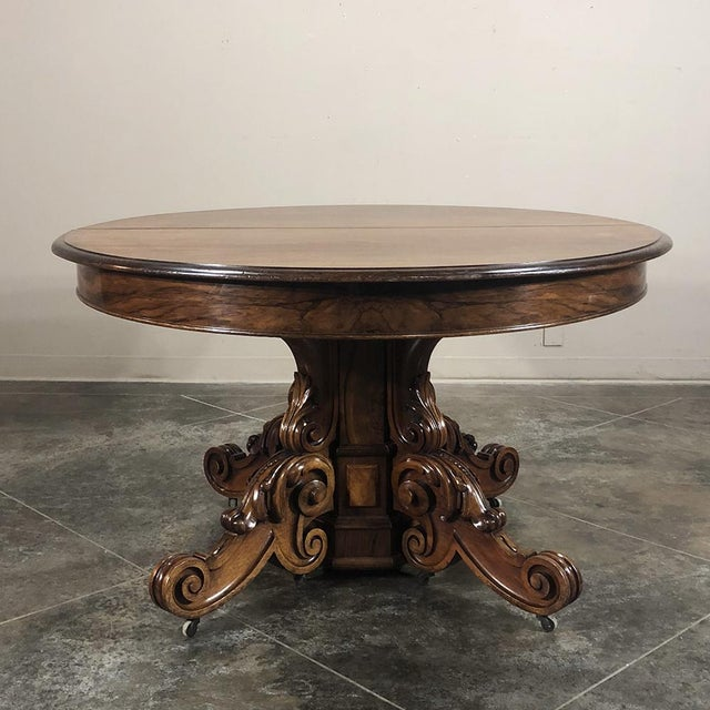 Late 19th Century 19th Century French Renaissance Walnut Pedestal Table For Sale - Image 5 of 13