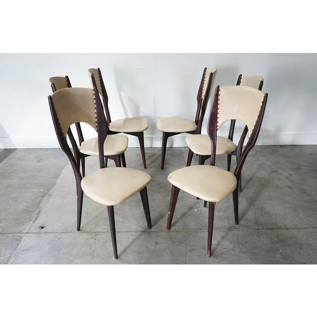 1970s Vintage Italian Dining Chair by Designer Gio Ponti, Sold as a Set For Sale - Image 5 of 9