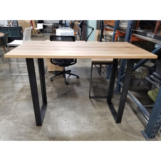 2010s Industrial West Elm High Top Console Table For Sale - Image 5 of 5