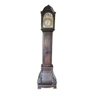 Antique 17th Century Dutch Burr Grandfather Clock For Sale