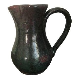 Greek Green Glazed Pottery Pitcher