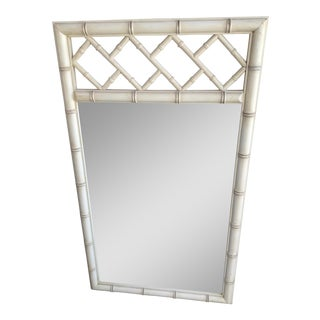Vintage 1960 Faux Bamboo Dixie Aloha Mirror For Sale