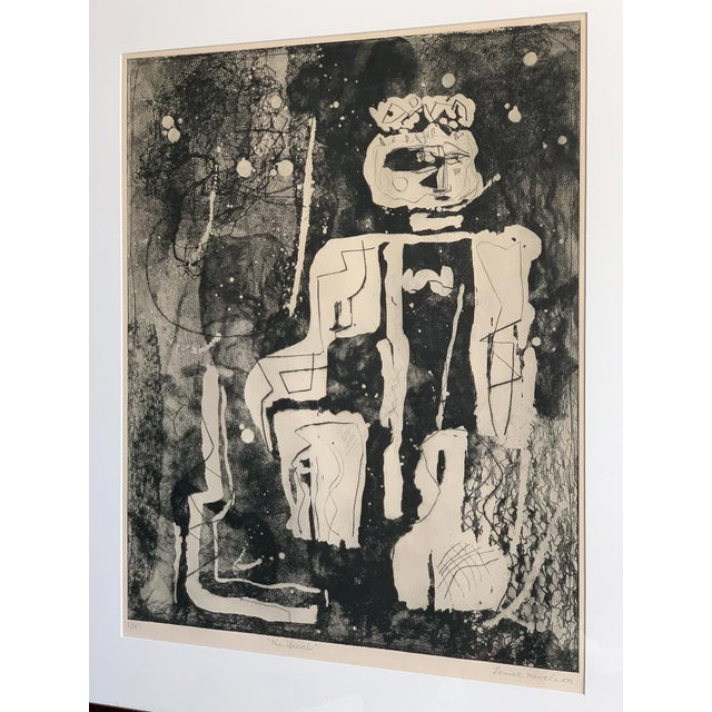 "Abstract Louise Nevelson Framed Etching ""The Search"", 1953-1955 For Sale - Image 3 of 8"
