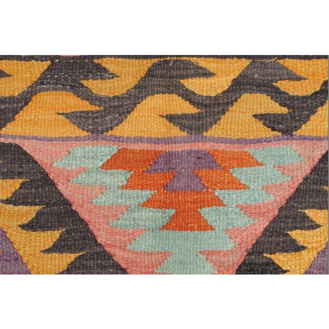 Vintage Turkish Barak Nomad's Flat Weave Rug For Sale - Image 10 of 12