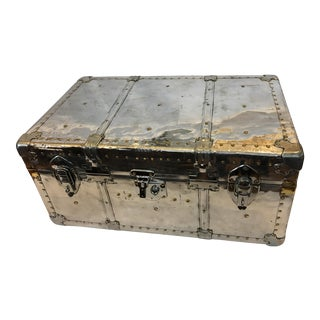 English Polished Aluminum Trunk