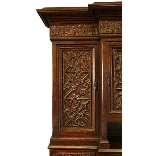 Heavily Carved Antique French Gothic Desk - Image 4 of 8