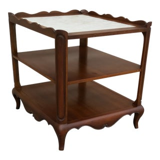 French Country Capiz Shell Tea Table For Sale