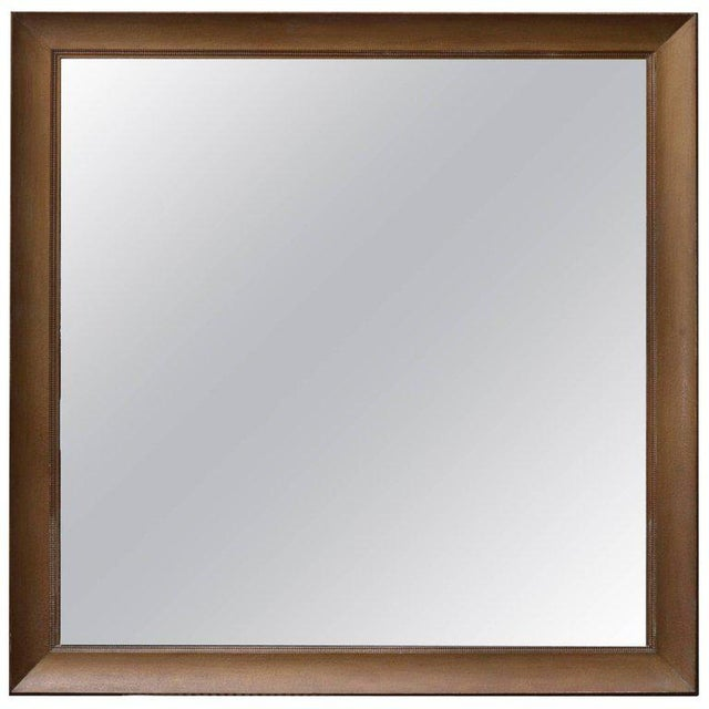 James Mont Monumental Square Gold Finish Wall Mirror by James Mont For Sale - Image 4 of 4