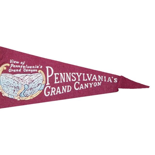 Vintage Pennsylvania's Grand Canyon Felt Flag - Image 2 of 2