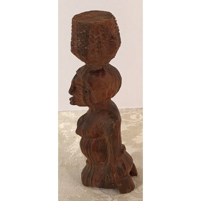 Tribal Hand Carved Woman Sculpture - Image 6 of 8
