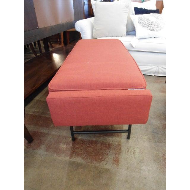 Blu Dot Burnt Orange Bench - Image 6 of 8
