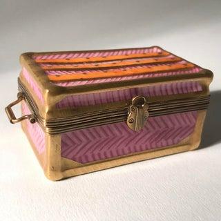 1980s Peint Main Limoges Suitcase Boxes - A Pair Preview