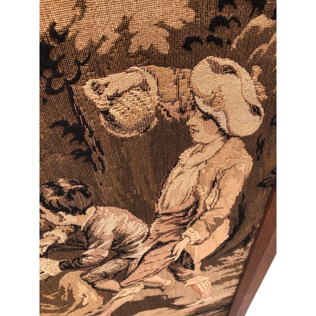 Textile 19th Century French Tapestries - a Pair For Sale - Image 7 of 11