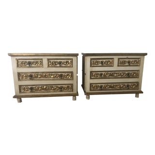 Mexico Polychrome Mirrored Cabinets - A Pair For Sale