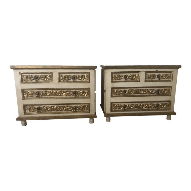 Mexico Polychrome Mirrored Cabinets - A Pair - Image 1 of 6