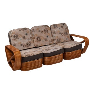 1960s Vintage Paul Frankl 6 Band Sofa For Sale