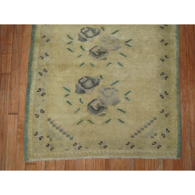Vintage Turkish Rug - 3'2'' x 4'3'' For Sale In New York - Image 6 of 6