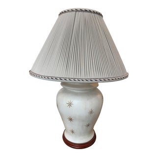 20th Century Hand-Painted Wood Lamp
