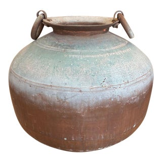 Antique Indian Copper Water Pot For Sale