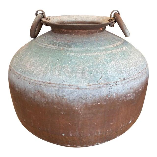 Antique Indian Copper Water Pot For Sale
