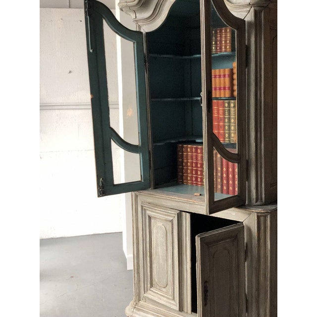 Early 19th Century French Painted Two Part Cabinet For Sale - Image 5 of 9