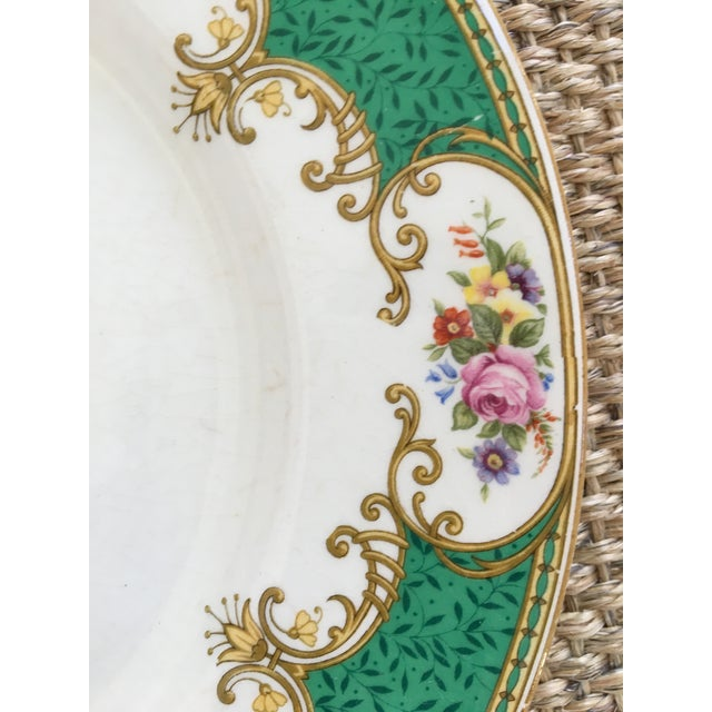 Made in England-Early 20th Century Antique Myott Royal Crown Staffordshire China Plates - Set of 6 For Sale - Image 10 of 13