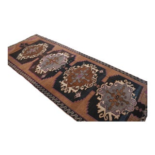 Hand Knotted Natural Colors Tribal Rug Large Long Runner - 6′ X 15′7″ For Sale