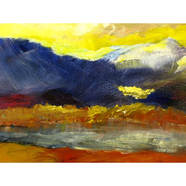 Expressionist Landscape Oil Painting by Barbara Leadabrand, American,(1922-1994) For Sale In Chicago - Image 6 of 9
