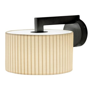 Black Bronze Deco Style Wall Light With Shade For Sale