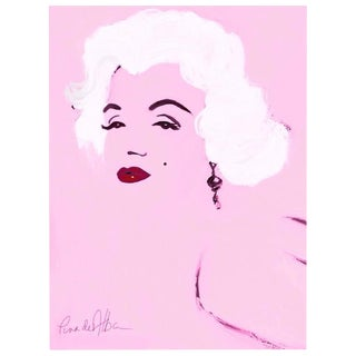 Arthur Pina De Alba - Marilyn - iPad Drawing on Archival Art Paper, Edition 2/7, Signed, 2016 For Sale