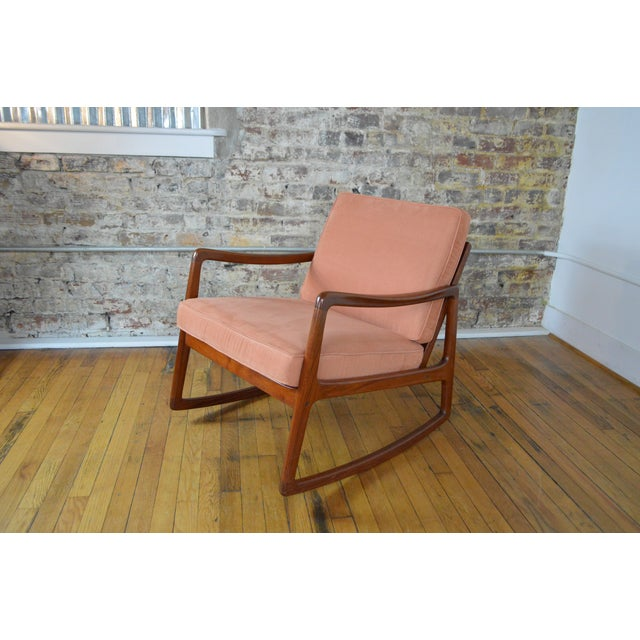 1960s Ole Wanscher Danish Modern Teak Rocking Chair For Sale - Image 5 of 9