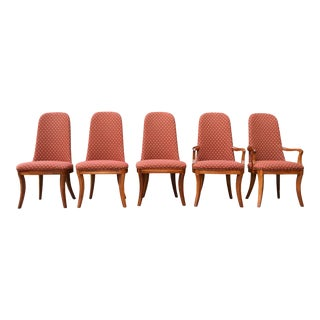 Henredon Mahogany Starburst Chairs - Set of 5 For Sale