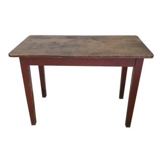 1930s Shaker-Style Rustic Wooden Table For Sale
