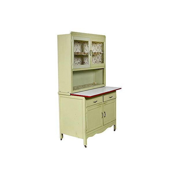 Antique 1920s Hooiser-Style Storage Cabinet - Image 3 of 6