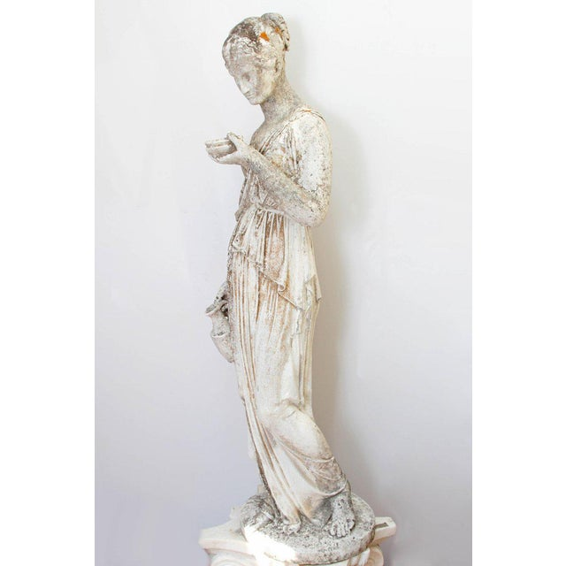 19th Century French Hand Carved Stone Female Statue For Sale In Dallas - Image 6 of 13
