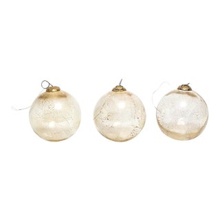 Witches Gilded Blown Glass Balls For Sale
