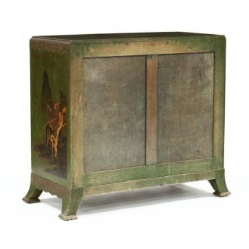 Chinoiserie Decorated Bow Front Chest of Drawers For Sale In Washington DC - Image 6 of 8