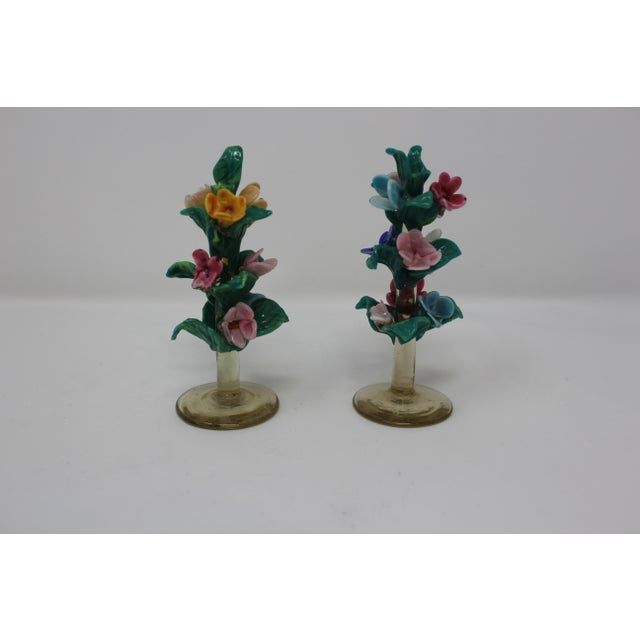 Vintage Antique Miniature Murano Flowers For Sale In Naples, FL - Image 6 of 6