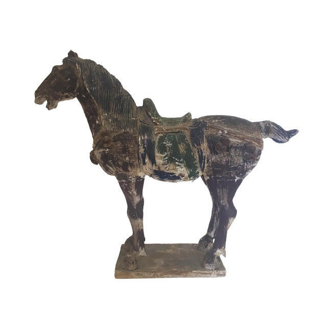 Hand Carved Painted Wooden Horse - Image 1 of 7