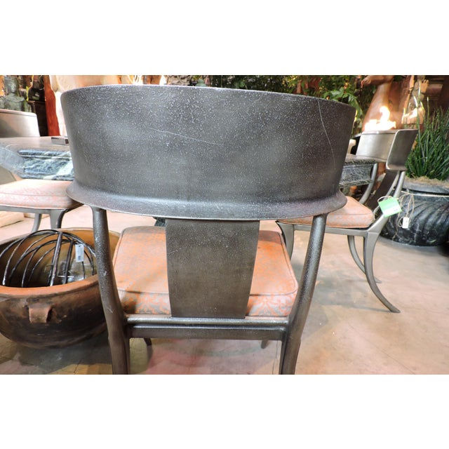 Contemporary Michael Taylor Outdoor Metal Chairs For Sale - Image 3 of 5