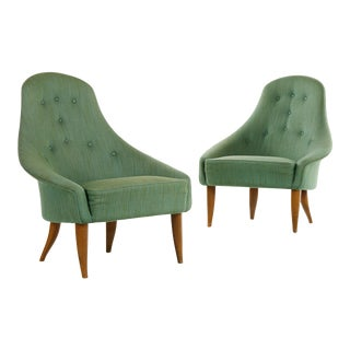 1950s Vintage Kerstin Horlin Holmquist Lilla Eva Armchairs- A Pair For Sale