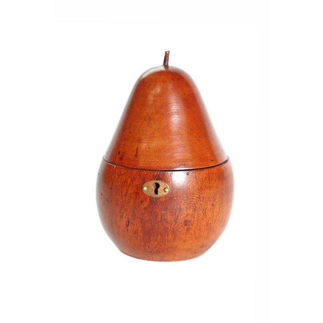 Early 19th Century Georgian Fruitwood Pear Form Tea Caddy For Sale - Image 4 of 13
