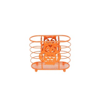 Neon Orange Owl Basket For Sale