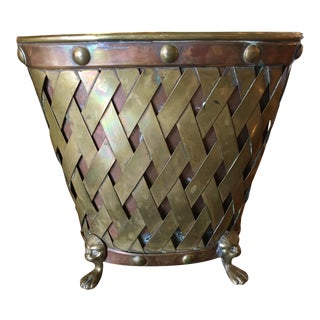 English Regency Brass & Copper Compote
