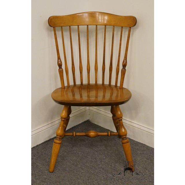 Early American Nichols & Stone Gardener MA Old Pine Side Chair For Sale - Image 3 of 13
